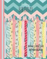 Happy Birthday Birthday And Special Dates Reminder Organizer: Chevron Blue - Birthday Date Book Reminder Organizer - Special Event Calendar Book - Nev