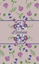 Leeann: Small Personalized Journal for Women and Girls