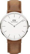 Daniel Wellington Classic Durham DW00100110 - Horloge - Leer - lichtbruin - Ø 40 mm