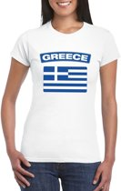 T-shirt met Griekse vlag wit dames S