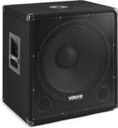 """Vonyx actieve 18"""" Bluetooth subwoofer met twee uitgangen - 1000W - SMWBA18MP3"""