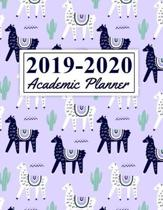 2019-2020 Academic Planner: Cute Llama Theme Pattern August 2019 to July 2020 Weekly & Monthly Planner And Organizer For Students And Teachers