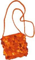Schoudertasje Pailletten Oranje