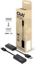 CLUB3D Displayport™ 1.2 to HDMI™ 2.0 UHD Active Adapter