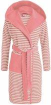 Esprit Striped Hoodie Badjas - Dusty Pink S