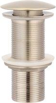 Lange afvoerplug clickwaste BE-I100N rvs, afsluitbaar 1,1/4 inch.