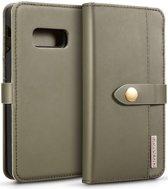 Samsung Galaxy S10E Leren 2-in-1 Bookcase en Back Cover Hoesje Groen