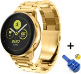 Metalen Armband Voor Samsung Galaxy Watch Active / 42mm Smartwatch - Horloge Band Strap - Schakel Polsband Strap RVS - Goud Kleurig