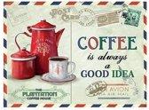 Koffie retro muurplaat Coffee Is Always A Good Idea 15 x 20 cm