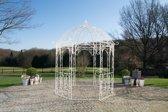 Clp Metalen tuinpaviljoen LEILA rond Ø 229 cm, hoogte 313 cm, rozenboog, rank hulp, weersbestendig, paviljoen voor klimplanten, eenvoudig, stijlvol design - antiek-crème