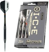 Harrows White Ice  90% Tungsten Steeltip 23 Gr - Zilver - Dartpijlen