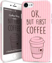 i-Paint soft case Coffee mug - roze - voor iPhone 7/8