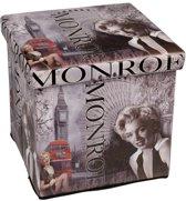 Poef / Opbergbox Monroe Opvouwbaar (38 x 38 x 38 cm)