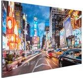 FotoCadeau.nl - Times Square NY Aluminium 90x60 cm - Foto print op Aluminium (metaal wanddecoratie)