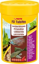 Sera FD Tubifex 100 ml proteinerijk voor vleeseters