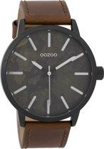 OOZOO Timepieces Bruin/Zwart horloge  (45 mm) - Bruin