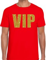VIP heren shirt rood - Heren feest t-shirts M
