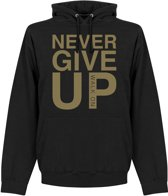 Never Give Up Liverpool Hoodie - Zwart/ Goud - M