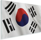 Close-up van de vlag van Zuid-Korea Plexiglas 180x120 cm - Foto print op Glas (Plexiglas wanddecoratie) XXL / Groot formaat!
