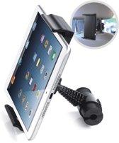 DrPhone A5 - Tablet Autohouder – Tablet houder voor uw achterbank - Hoofdsteun autohouder -Standaard klikhouder met 360 graden rotatie geschikt voor 5 tot 10.1 inch - Samsung Tab A / Tab E / iPad mini / ipad Air / iPad Pro / Huawei Mediapad - Zwart