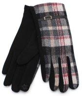 Handschoenen met Ruit - Dames - Touchscreen Tip - Grijs - Dielay