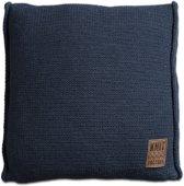 Knit Factory Uni Kussen - 50x50 cm - Jeans