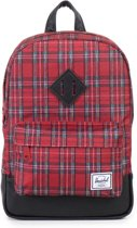 Herschel Heritage - Rugzak - Kids - Red Plaid / Black / Black