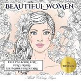 Adult Coloring Pages (Beautiful Women)