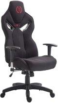 Clp Racing bureaustoel FANGIO gaming chair - belastbaar tot 150 kg, stof - zwart/zwart