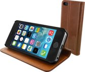 Mobiparts Luxury Book Case Brown iPhone 5/5S/SE