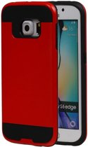 Rood BestCases Tough Armor TPU back cover voor Samsung Galaxy S6 Edge