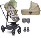 Easywalker Harvey - Kinderwagen inclusief zitting | reiswieg | voetenzak | adapter | hoogte adapter - Fresh Olive