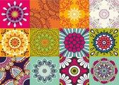 Vinyl  Placemats | Retro Flower