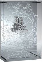 NeXtime Fantome - Klok - Rechthoekig - Glas - 10x25 cm - Helder