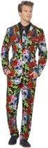 Day of the Dead Suit with Jacket Trousers & Tie