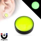 Fake plug piercing glow in the dark groen ©LMPiercings