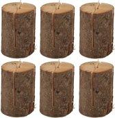 Voordeelverpakking - 6 Zweedse fakkels / boomstam tuinfakkels