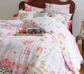 Little Diva Follow Your Dream dekbedovertrek - Roze - Lits-jumeaux (240x200/220 cm + 2 slopen)