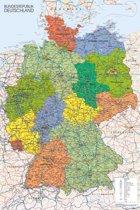 Duitsland kaart-Poster-Deutschland-Formaat 61x91.5cm.