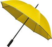 Falcone Golfparaplu - Reflecterende Piping - Geel