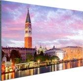 Zonsondergang Venetie Aluminium 90x60 cm - Foto print op Aluminium (metaal wanddecoratie)