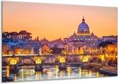Canvas schilderij Brug   Geel, Oranje   120x70cm 1Luik