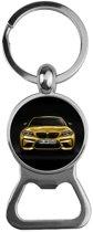 Sleutelhanger / Bieropener Zilver Glas - BMW