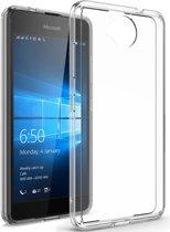 Microsoft Lumia 650 Ultra dunne silicone hoesje transparant