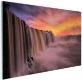 Iguazu waterval Glas 30x20 cm - klein - Foto print op Glas (Plexiglas wanddecoratie)