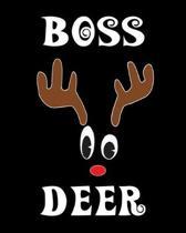 Boss Deer: Deer Elk Antler Hunting Hobby 2020 Monthly Planner Dated Journal 8'' x 10'' 110 pages