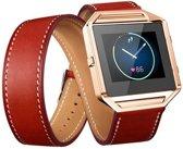 Infinity Leer Armband voor Fitbit Blaze