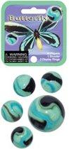 Vlinder kleintje knikkers 21 stuks  - buitenspeelgoed - knikkeren