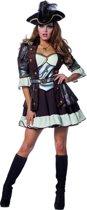 Piraat & Viking Kostuum   Fashionable Pirate De Luxe   Vrouw   Maat 46   Carnaval kostuum   Verkleedkleding