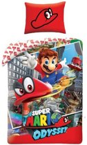 Super Mario Odyssey dekbedovertrek 140x200 | Katoen